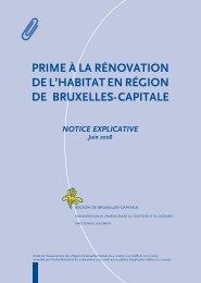prime à la rénovation de l'habitat en région de bruxelles-capitale