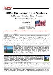 USA - Höhepunkte des Westens - bei Jetway Reisen!