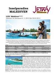 Inselparadies MALEDIVEN - bei Jetway Reisen!