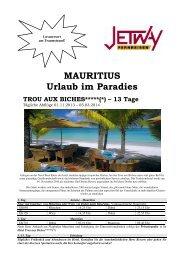 MAURITIUS Urlaub im Paradies - bei Jetway Reisen!