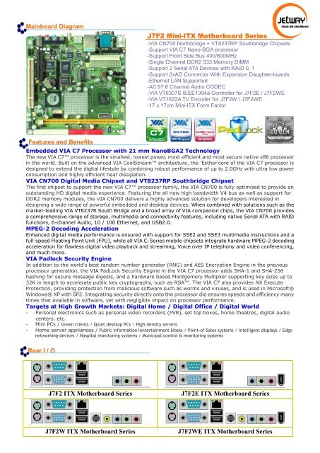 J7f2 Mini-itx Motherboard Series