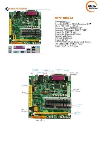 Jetway Computer NF77 VIA VGA 64Bit