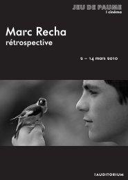 Marc Recha - Jeu de Paume