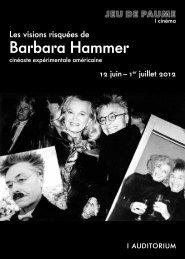 Barbara Hammer - Jeu de Paume