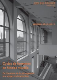 Cycles_HistoireVisuelle_2010-2011 - Jeu de Paume