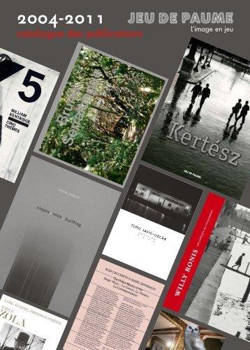catalogue des publications - Jeu de Paume