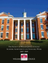 the faculty of william jewell college academic achievements