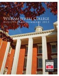 Benefit Brochure 2013 - William Jewell College