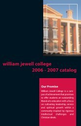 Courses of Study - William Jewell College