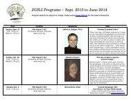 JGSLI Programs Sept. 2013 – June 2014 - JewishGen