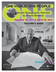 Teacher's Guide - Jewish Museum Milwaukee