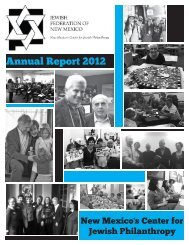Download 2012 Annual Report - Jewish Federation of New Mexico