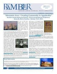 Rambler - Southern Jewish Historical Society