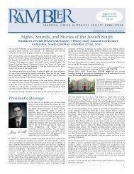 Rambler (Vol 15 Issue 3) - Southern Jewish Historical Society