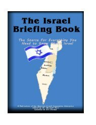 The Israel Briefing Book - Jewish Virtual Library