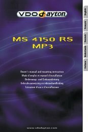 VDO Dayton MS 4150 RS MP3; 1-DIN Radio Navigation - jewuwa