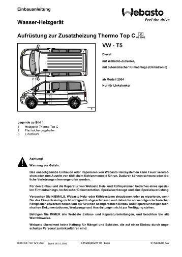 Wasser-Heizgerät Aufrüstung zur Zusatzheizung ... - VW-Bus-T4.de