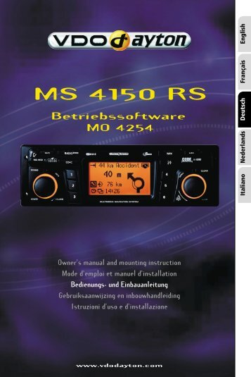 VDO Dayton MS 4150 RS with OS MO 4254; 04/2004 - jewuwa