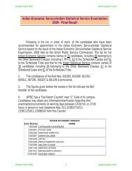 Indian Economic Service/Indian Statistical Service ... - Jeywin