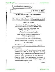 Optional Paper – Agricultural Engineering I - Jeywin