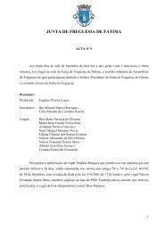 Acta nº 5 - 30/09/2010 - Junta de Freguesia de Fátima
