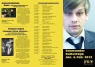 Stemweder Kulturtage Jan. & Feb. 2012 - JFK Stemwede