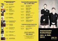 Stemweder Kulturtage Jan. & Feb. 2013 - JFK Stemwede