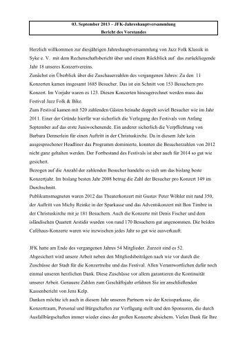PDF-Datei herunterladen (12kB) - Jazz Folk Klassik in Syke eV