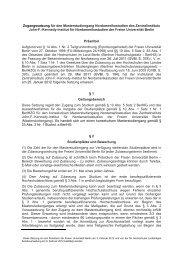 Dritte Satzung zur Änderung der Satzung zur Regelung der Vergabe ...