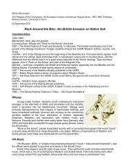 Rock Around the Bloc: the British Invasion on Native Soil
