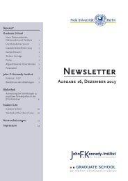 Newsletter - John-F.-Kennedy-Institut für Nordamerikastudien