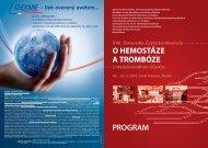 program - Jesseniova lekárska fakulta - Univerzita Komenského