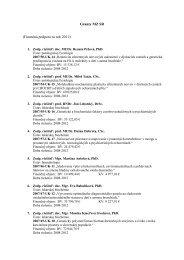 Granty MZ SR (Finančná podpora za rok 2011):