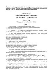 šiesta časť študijný a skúšobný poriadok pre kreditový systém štúdia