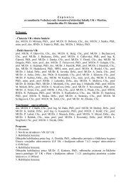 Zápisnica z VR JLF UK/19.2.2009