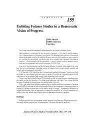 Enlisting Futures Studies in a Democratic Vision of Progress Program