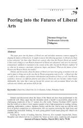 .79 Peering into the Futures of Liberal Arts - Journal of Futures Studies
