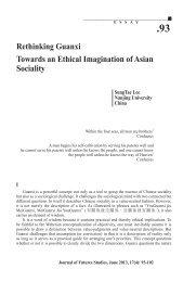 Rethinking Guanxi Towards an Ethical Imagination of Asian Sociality