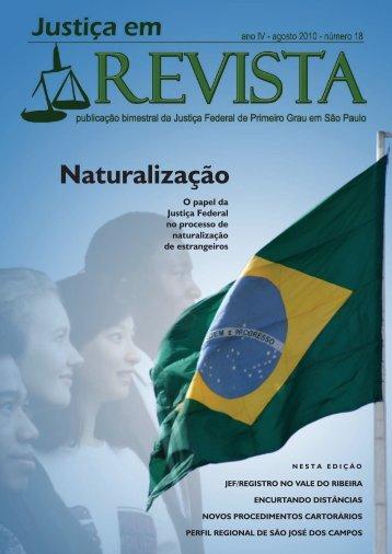 Naturalização - Justiça Federal de Primeiro Grau em São Paulo