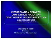 interrelation between competition policy and development ...