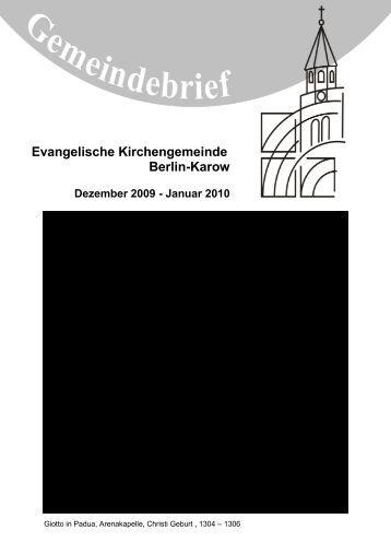 Evangelische Kirchengemeinde Berlin-Karow - JG Karow