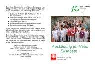 Ausbildung im Haus Elisabeth - Josefs-Gesellschaft gGmbH