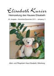 Elisabeth Kurier - Ausgabe November/Dezember 2013 - JG-Gruppe