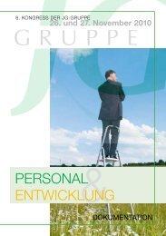 PERSONAL ENTWICKLUNG - JG-Gruppe