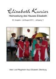 Elisabet Kurier - Ausgabe Juli/August 2013
