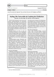 Styling: Die Universität als Laufsteg der Eitelkeiten