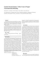 Gastric Stromal Tumor: A Rare Cause of Upper ... - ResearchGate