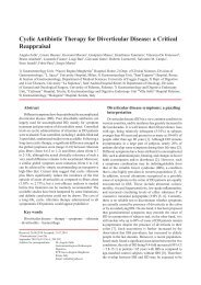 Cyclic Antibiotic Therapy for Diverticular Disease: a ... - ResearchGate