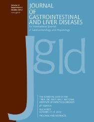 Supplement 4/2012 - Journal of Gastrointestinal and Liver Diseases