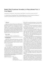 Budd-Chiari Syndrome Secondary to Polycythemia Vera. A Case ...